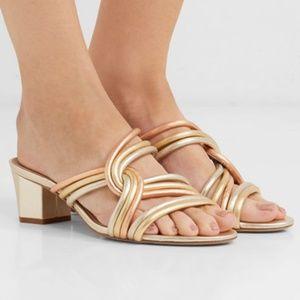 Diane Von Furstenberg Jada Sandal Knotted Metallic